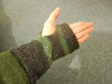 My friend not only cooks but she knits and keeps my hands warm! (I love hand-made items.)